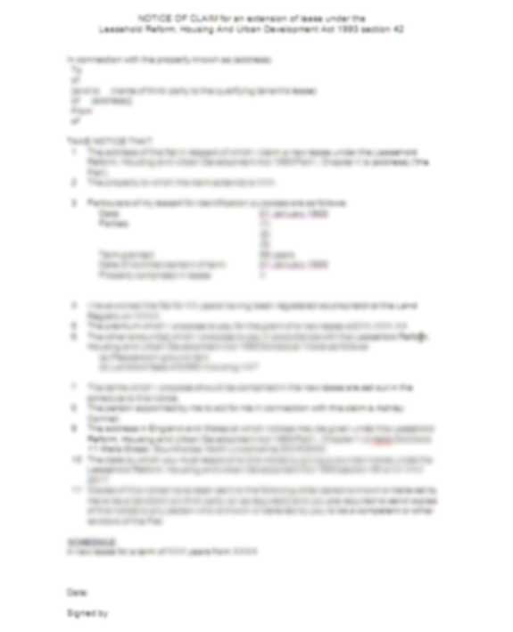 Section 42 Notice Template